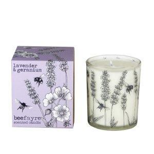 Lavender & Geranium 20cl Candle white