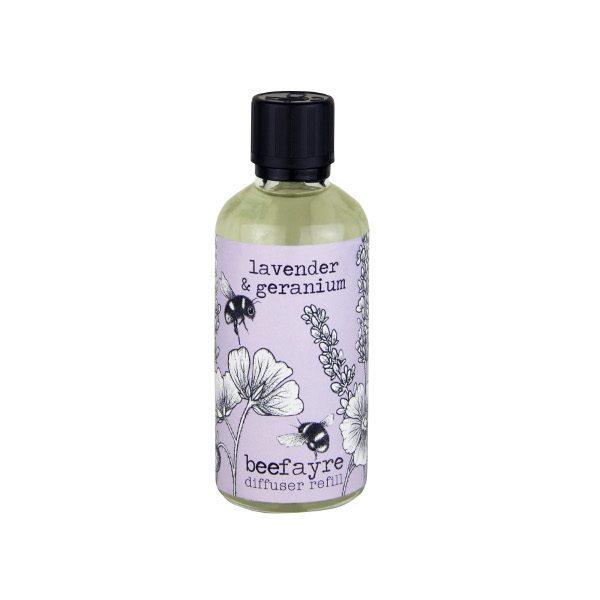 Lavender & Geranium Diffuser Refill white