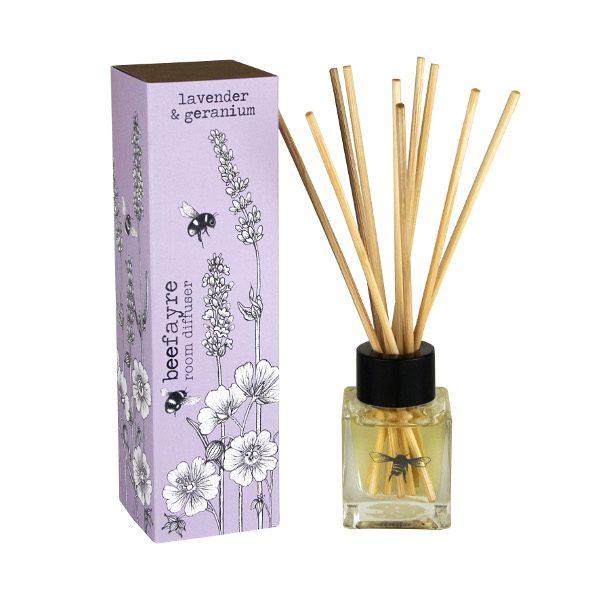 Lavender & Geranium Room Diffuser white
