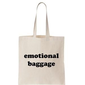 emotional-baggage-reusable-cotton-shopping-tote-bag