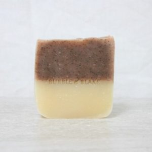 bubble and blake french red clay with jojoba beads soap bar single