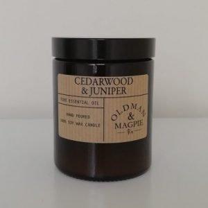 cedarwood and juniper large candle