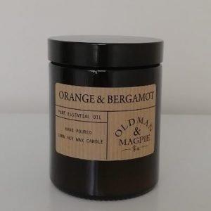 orange and bergamot large candle