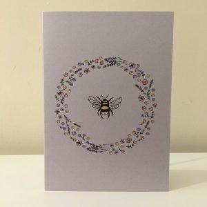 Eco-friendly Bee Wreath Blank Card