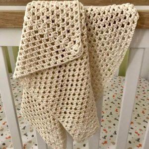Handmade Knitted Newborn Baby Blanket
