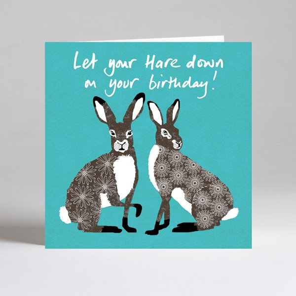 Hare down birthday card