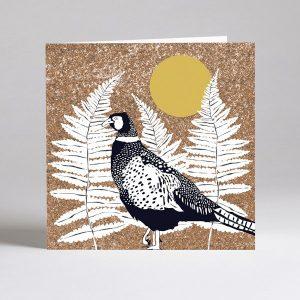 Pheasant russet card