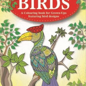 Birds adult colouring book
