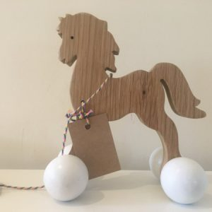Horse Pull along toy
