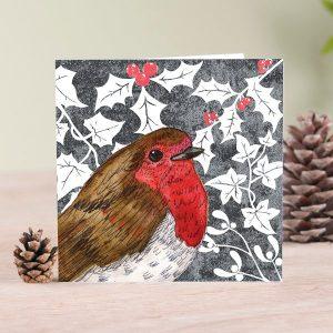 Christmas Robin Blank Card