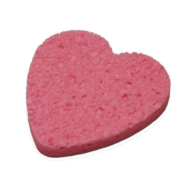 Pink Heart Sponge