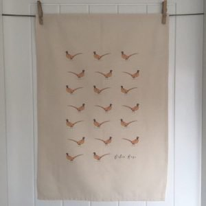 Mini Pheasant Tea Towel