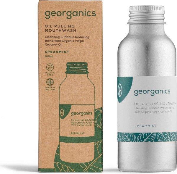 Georganics Oil-pulling Mouthwash 100ml Spearmint