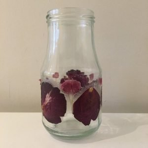 Upcycled Floral Glass Vase